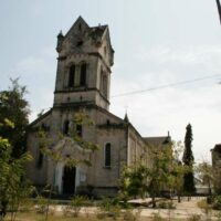 Die neuromanische Kirche, Bagamoyo, Tansnaia