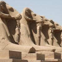 Sphinx-Allee am Karnak Tempel Luxor