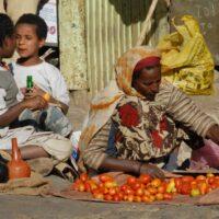 Markt in Addis Abbeba, Äthiopien